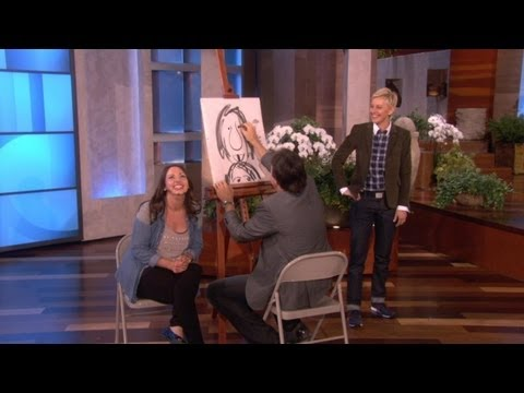 kevin - Being an artist isn't always easy. Kevin Nealon showed Ellen the challenges he's been facing.