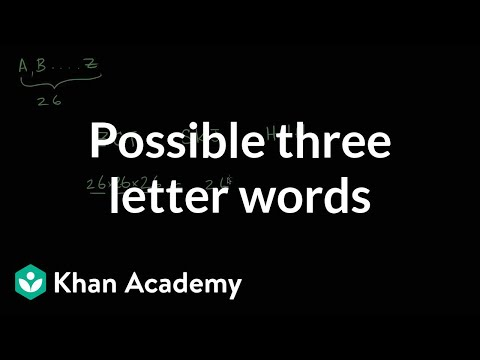 Possible Three Letter Words Video