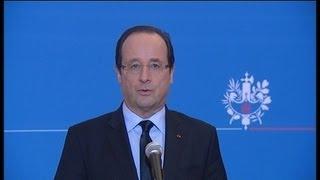 Libération de Florence Cassez : la réaction de François Hollande - 23/01 - YouTube