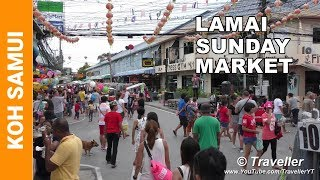 """We are at the Lamai Beach Night Market held every Sunday at Lamai Beach, Koh Samui from 15:00 until 23:00. This Thai night market tour is part 2 of 2 of the Lamai Night markets we have filmed. Our first Lamai Sunday Night Market focused on the Thai street foods available to eat at this Koh Samui Market, see it here https://www.youtube.com/watch?v=ij8idpL2knk This Lamai Night Market video filmed on the same day focuses on the shopping part of the market and is a """"no comments"""" walking tour through the market where viewers are presented with many of the products available for sale. If you prefer to see the many Thai Street Foods also available for sale at this market, then we suggest that you watch the first video.The Lamai Beach Night Market is held every Sunday from  15:00 to 23:00 at Lamai Beach on the island of Koh, Samui, Thailand. If you are living at Lamai Beach you should be able to walk there or just take one of the local """"Tuk Tuks"""". If you are unsure of the location just follow the other tourists walking along the road in one direction or ask one of the local Thai´s who will quickly point you in the right direction.If you are living at Chaweng Beach or Bophut Beach, the area where The Fishermans Village Night Market is held on Fridays, we suggest that you take a taxi or also a local """"TukTuk"""" (Pickup) to Lamai Beach. Just tell the driver/s that you are going to the Lamai Beach Night Market. For tourists the taxi should cost 300 Baht from Chaweng Beach and Max 500 Baht from Bophut and the """"TukTuk"""" price is around 100 Baht from Chaweng and you should be able to negotiate a similar price if you are coming from Bophut Beach. Don´t get to the Lamai Beach Night Market too late, as by the time we had finished filming around 21:00 and were ready to eat many of the delicious Thai Street Foods were already sold out or the vendors were packing up for the evening. Thai food and Thai Street Food lovers this is a night market not to be missed, be sure to visit this weekend """