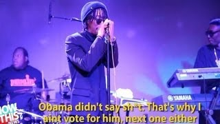 Lupe Fiasco Anti-Obama Song at Inaugural Event