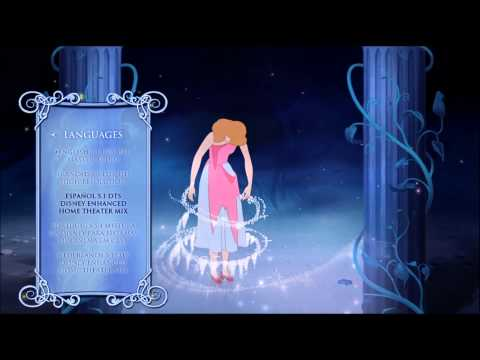 Cinderella 1950 Diamond Edition Blu Ray Menu Preview