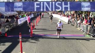 Frederic Gagnon At Finish Line - 2012 Bellingham Bay Half Marathon