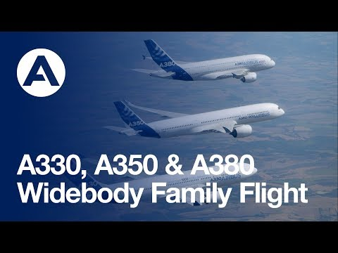 airbus - Airbus' modern, widebody jetliner family - the versatile A330, super-efficient A350 XWB and flagship A380 -- came together in the skies for the first time du...