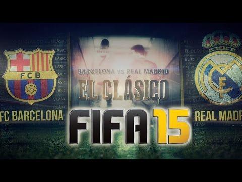 FIFA15 Gameplay Barcelona Vs Real Madrid – FIFAALLSTARS.COM