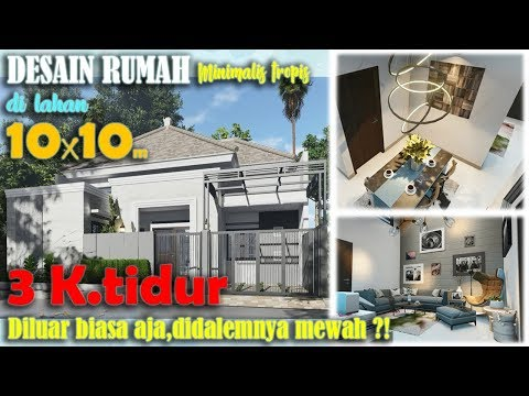 Desain rumah 10x10 dengan 3 kamar tidur,mungil tapi mewah?!