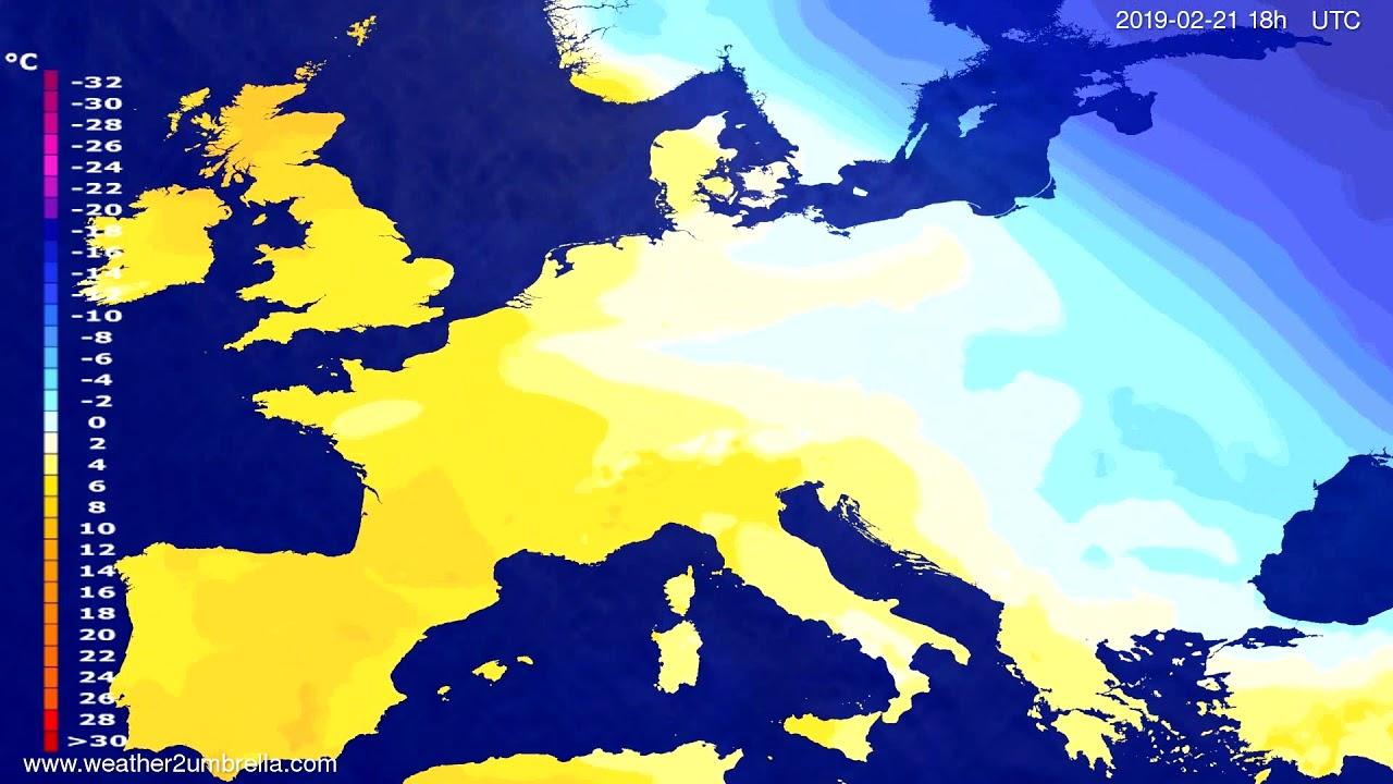 #Weather_Forecast// Temperature forecast Europe 2019-02-20