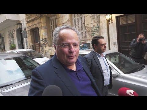 Ο πρώην ΥΠΕΞ Νίκος Κοτζιάς στη συνεδρίαση των μελών της Κίνησης Ιδεών και Δράσης ΠΡΑΤΤΩ
