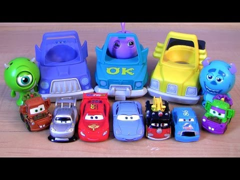 Disney Cars Roll A Scare Ridez Monsters University Toys From Pixar Monsters Inc 2 cartoys review