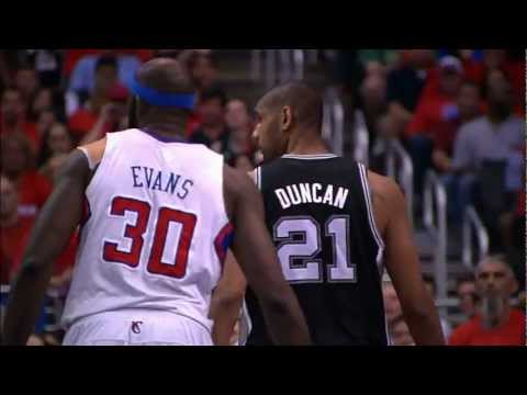 Tim Duncan blocks Blake Griffin