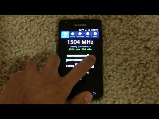 Samsung Galaxy S II Overclocked to 1.5GHz
