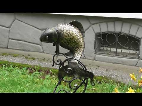 декор клумбы, Золотая рыбка
