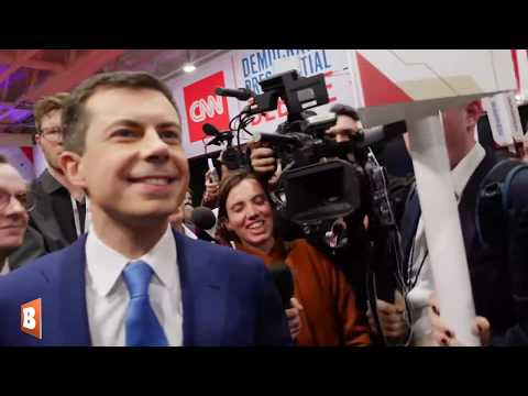 Pete Buttigieg Refuses to Answer Reporters' Spin Room Questions