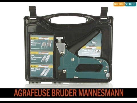 Coffret agrafeuse-cloueuse manuelle Brüder Mannesmann M48410