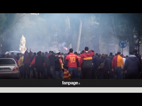 Ultras Galatasaray in centro a Roma