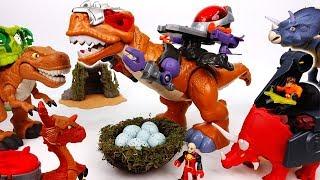Video Mega T-Rex, Protect Our Eggs~! Primeval Dino Vs. Mecha Dino - ToyMart TV MP3, 3GP, MP4, WEBM, AVI, FLV Maret 2018