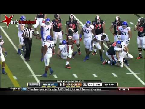 Demarcus Lawrence vs Oregon St. 2013 (Hawaii Bowl) video.