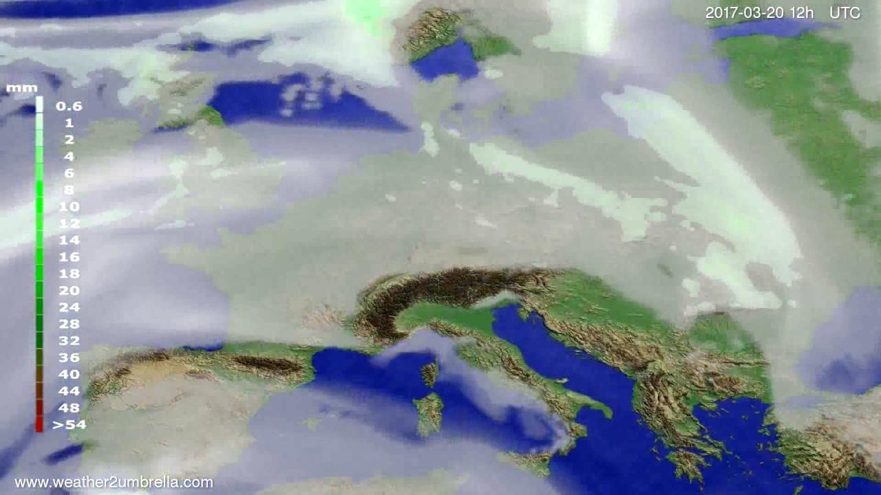 Precipitation forecast Europe 2017-03-16