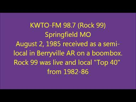KWTO FM 98 7 Rock99 Springfield MO August 2 1985