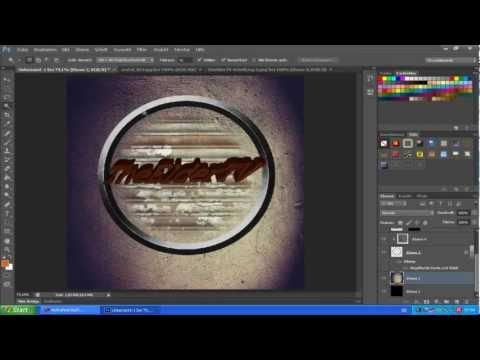 Photoshop Tutorail (German/HD)  #1 Kostenlos, einfach und schnell eigenes Logo erstellen