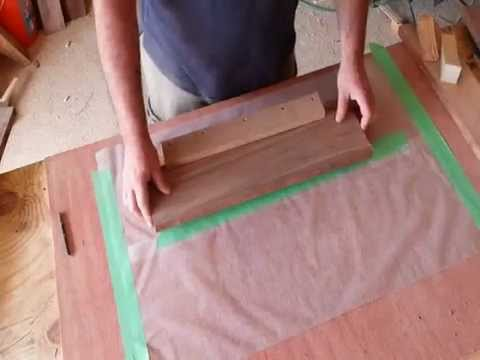 woodworking - in this video we go over how a person can mill a perfect edge for gluing up tops with out a jointer. We also see how easy it is to glue up a top with out cla...