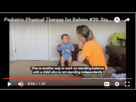 Pediatric Physical Therapy for Babies #39: Standing Balance Back to Foot Stool