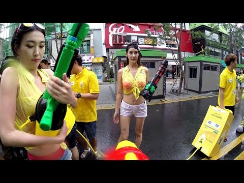 Water gun fight in South Korea.