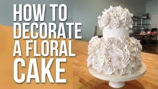 How to Decorate a White Floral Cake | Cake Tutorials