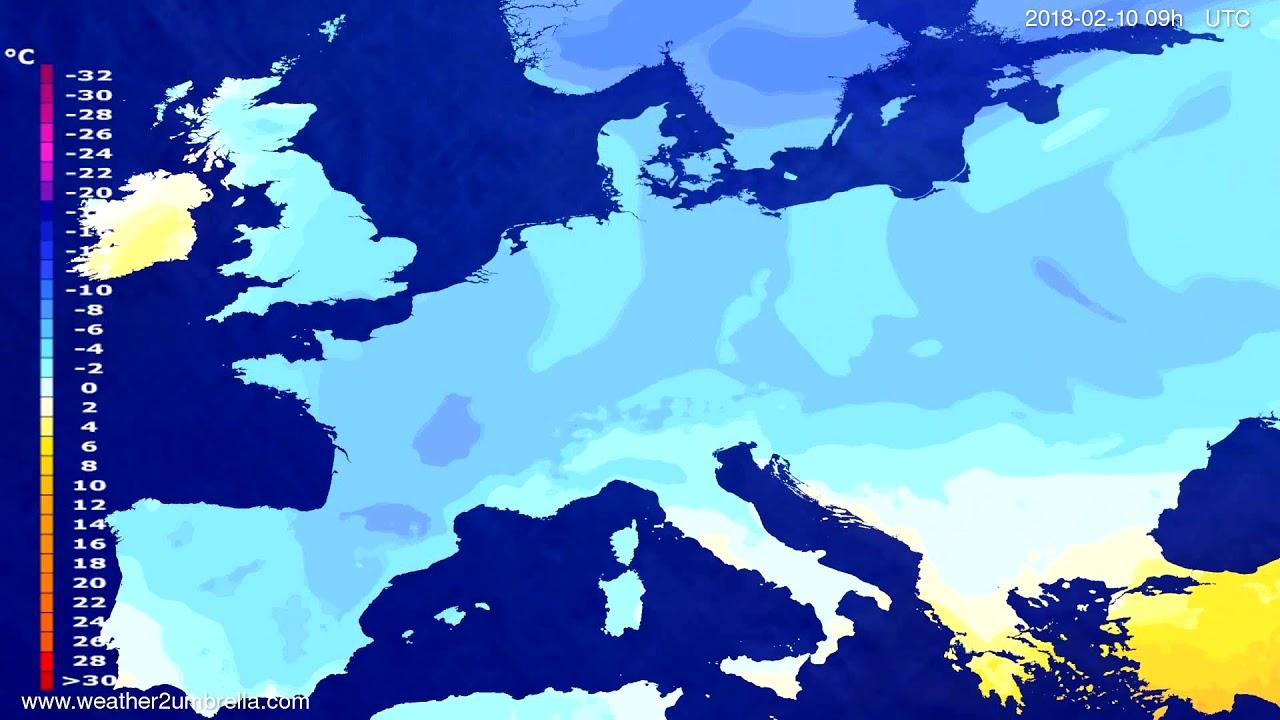 Temperature forecast Europe 2018-02-06