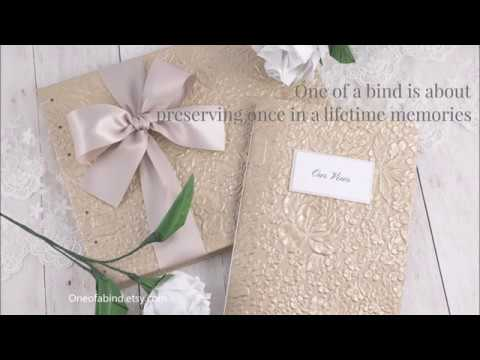 Wedding Guest Books, Vow Booklets, Photo Albums By One Of A Bind
