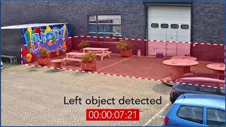 Bosch Security - Left object detection with Essential Video Analytics