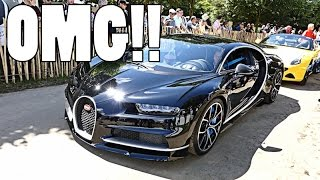 NEW BUGATTI CHIRON DRIVES WITH CRAZY SUPERCARS!! by Supercars of London