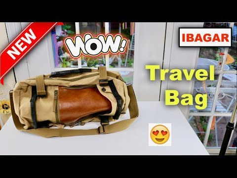 😍   IBAGBAR Canvas Backpack  Travel Bag - Review   ✅