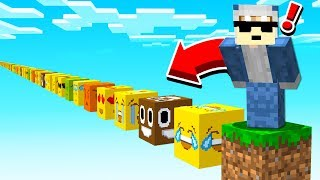 JUMPING ON GIANT EMOJI'S in MINECRAFT...