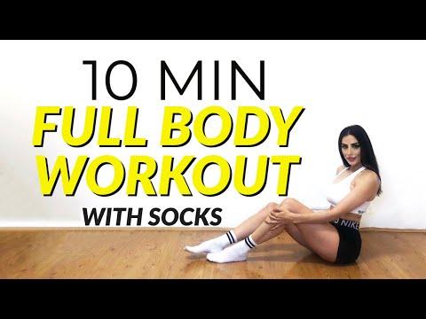 10 MIN SLIDER SOCKS FULL BODY WORKOUT |