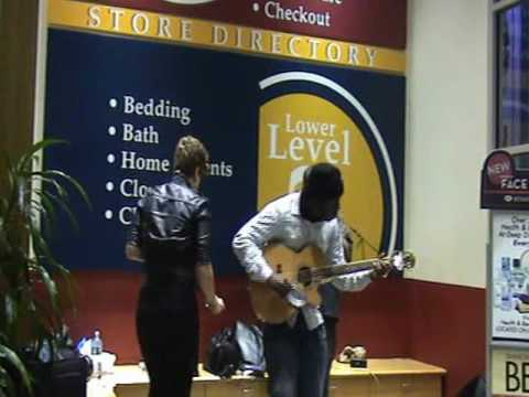 Blame it on the Alcohol live acoustic w/ trumpet **Wardrobe malfunction Guitaro ...