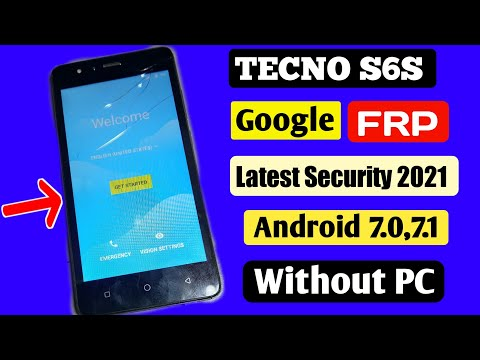 FRP Unlock Tecno S6S Google Account Bypass FRP Android 7.0 NO PC Latest Security 2021