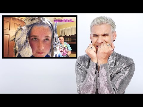 Hairdresser Reacts To DIY Foil Bleach Fail
