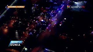 Dua polisi tertembak di Kissimme, Florida. Satu tewas dan rekannya berada dalam kondisi kritis. Penembakan terjadi ketika kedua polisi menjawab panggilan darurat, namun tersangka justru menghujani dengan tembakan.Dua tersangka telah tertangkap dan operasi pencarian tersangka lain masih berlangsung.