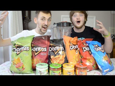 Eating Blended Doritos Tortilla Chips & Dips   WheresMyChallenge