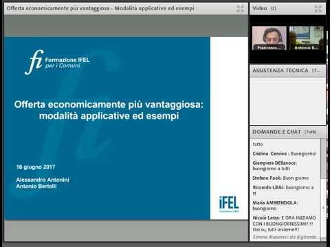 16/06/2017 - Offerta economicamente più vantaggiosa: modalità applicative ed esempi