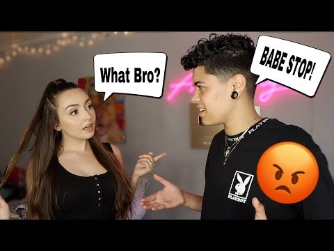 "CALLING My Boyfriend ""BRO"" For 24 Hours *He Got Mad*"
