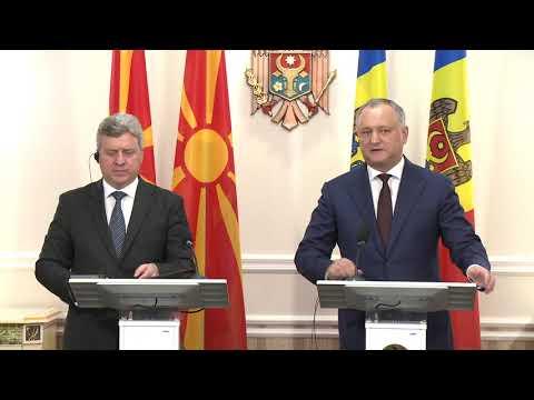 Președintele Republicii Moldova a avut o întrevedere cu Președintele Republicii Macedonia