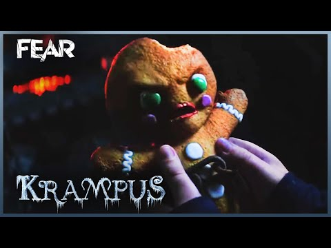 Krampus | The Evil Gingerbread Man Drags Howie Up The Chimney