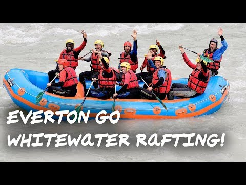Video: EVERTON GO WHITEWATER RAFTING! | TEAM BONDING IN SWITZERLAND