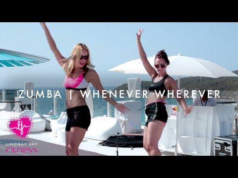 "zumba a ibiza - dance fitness ""whenever wherever"" di shakira"