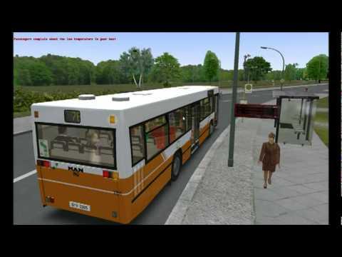 Omsi Bus Simulator 2011 MAN NL202 on Grundorf