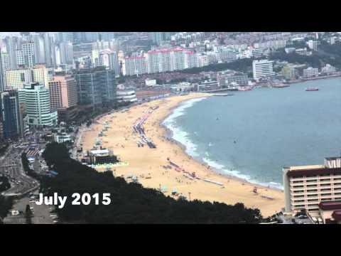 Пляж Хэундэ в Пусане в течение двух лет (Haeundae beach in Busan: how it changed in 2 years)»