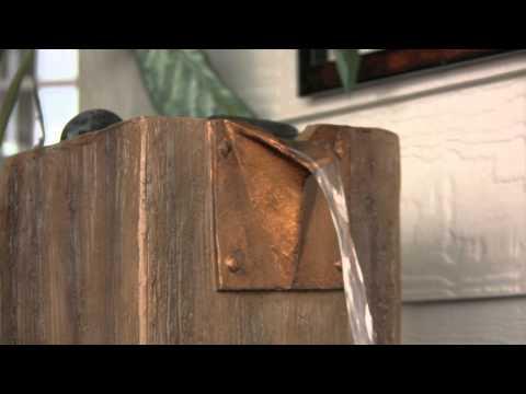 Video for Timber Wood Grain Indoor/Outdoor Floor Fountain