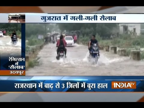 Flood situation worsens across India, PM Modi inspects home state